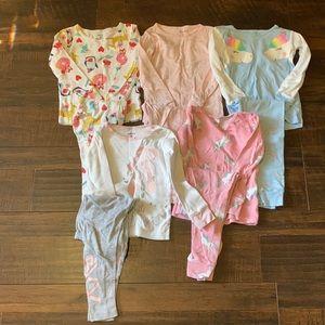 Carters snug fit pajamas, set of 5, size 3T